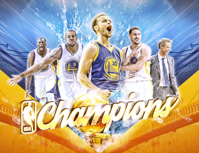 2015 nba champions warriors artwork