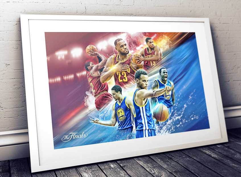 2015 nba finals artwork