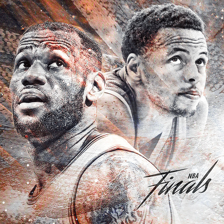 2015 nba finals artwork lebron vs curry art