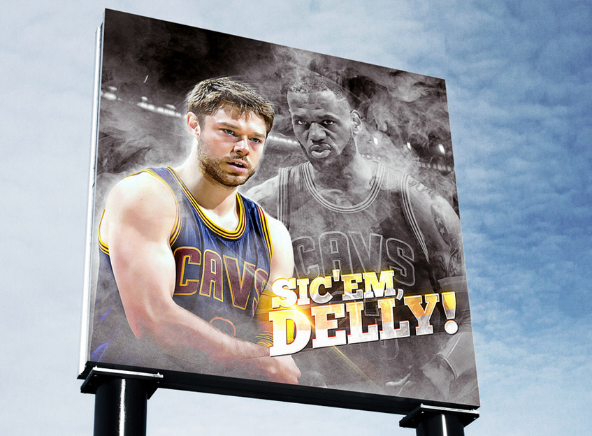2015 nba finals delly artwork