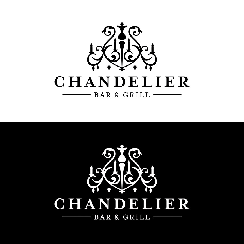 Chandelier Bar & Grill Logo Design