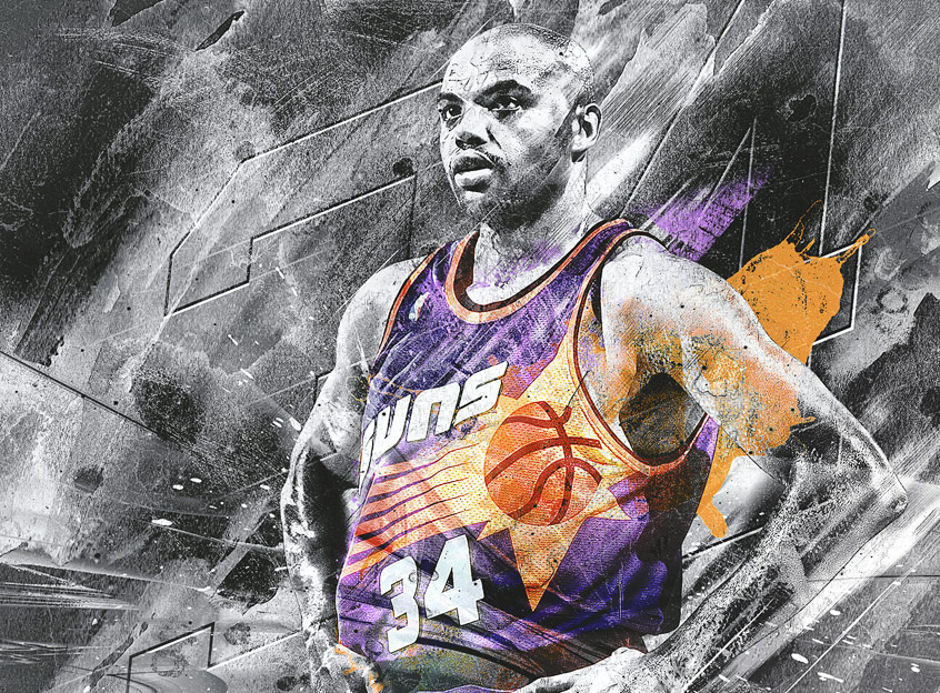 Charles Barkley NBA art