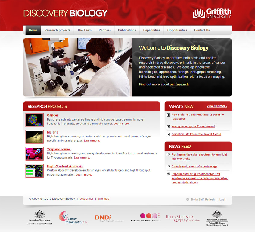 Award Winning Web Design - Discovery Biology