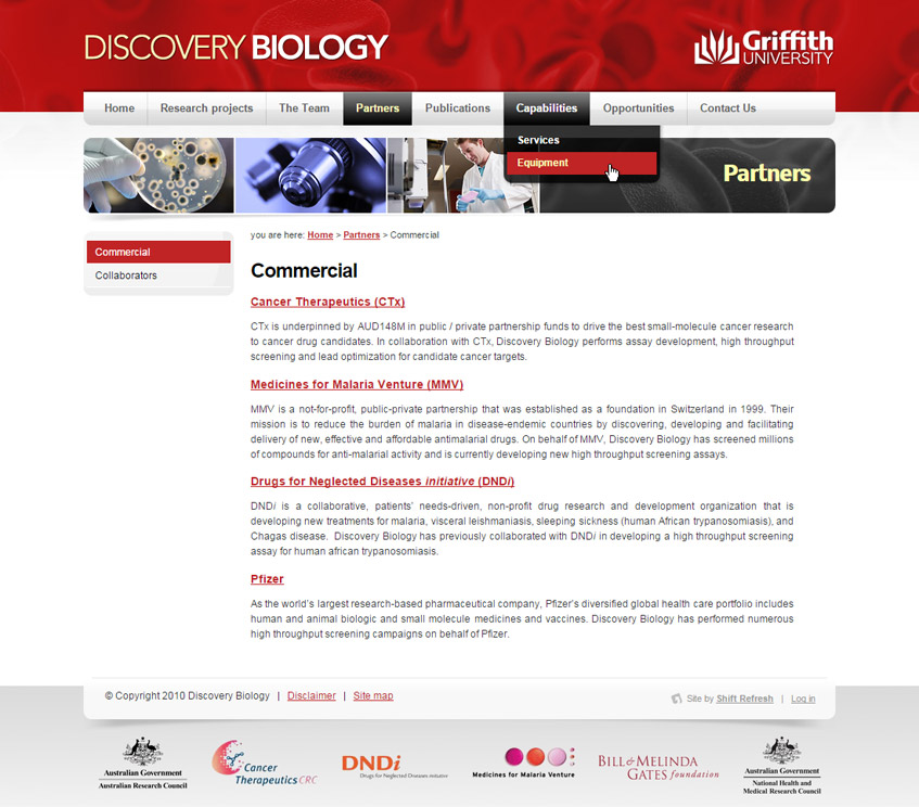 Discovery Biology Web Design