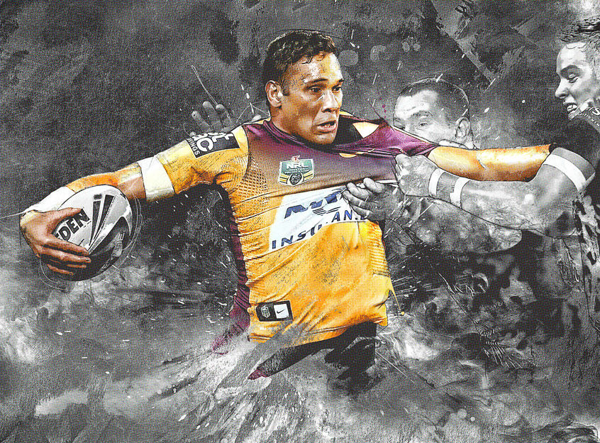 Justin Hodges NRL art