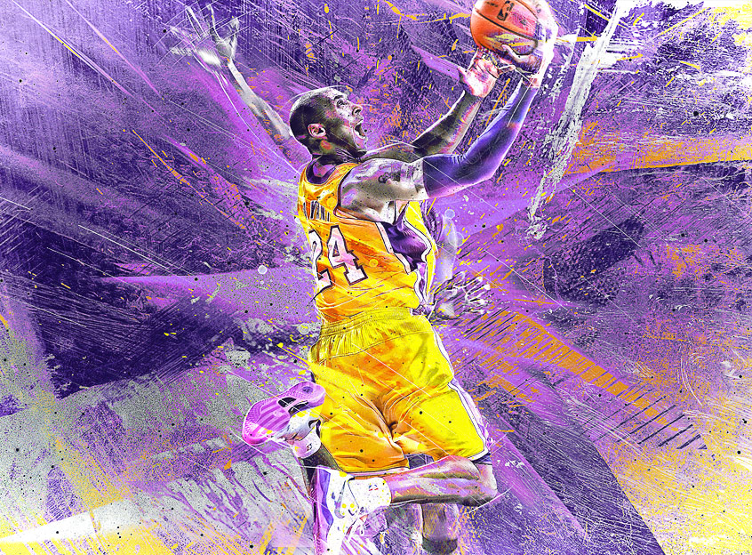 Kobe Bryant NBA Abstract Art