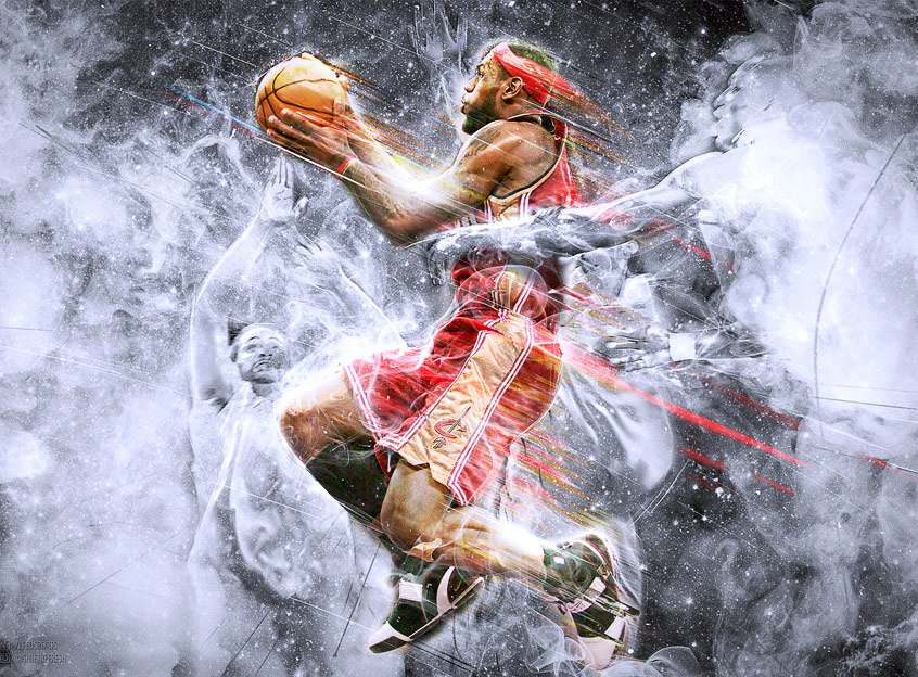 Lebron James NBA art