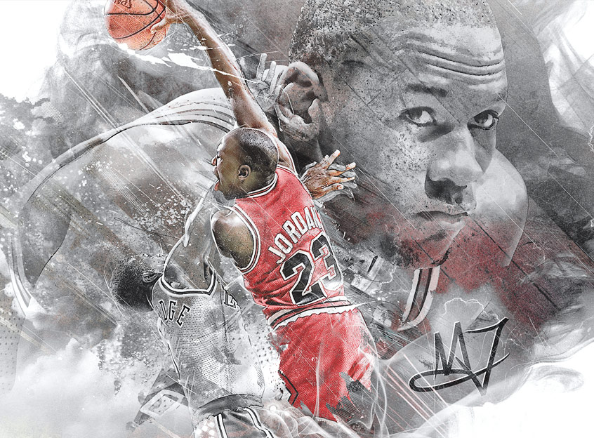 Michael Jordan NBA art