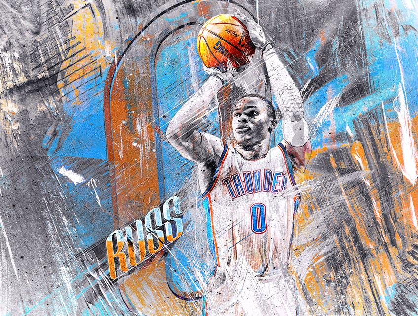 nba russell westbrook artwork
