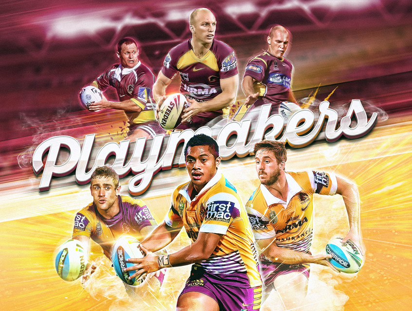 nrl digital art brisbane broncos