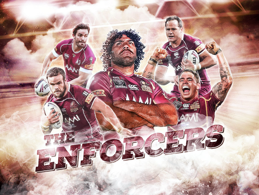 nrl qld origin social media graphics