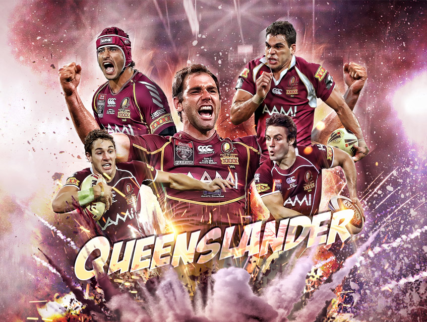 nrl queenslander state of origin design