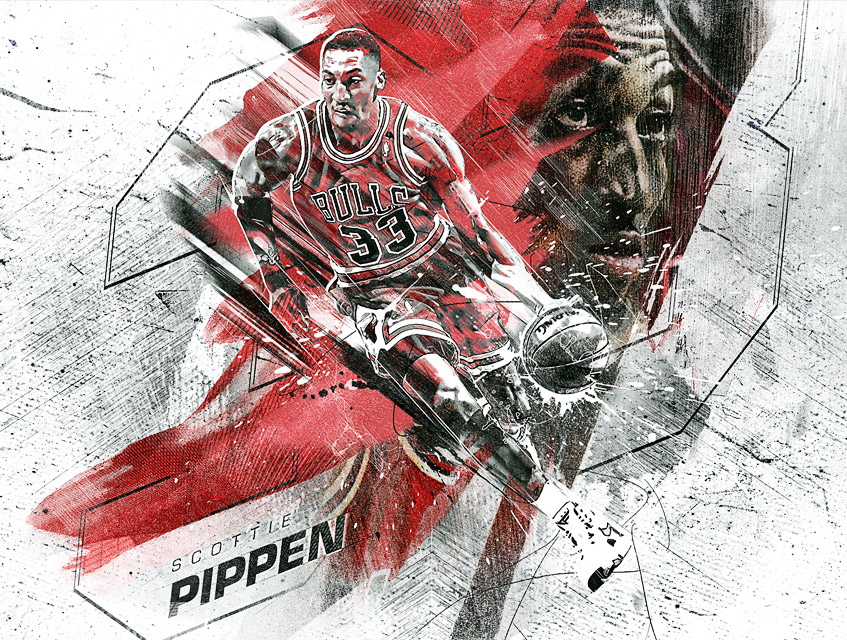 Scottie Pippen NBA Digital Artwork