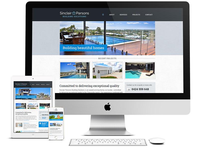 Responsive Website - Sinclair Parsons Builder