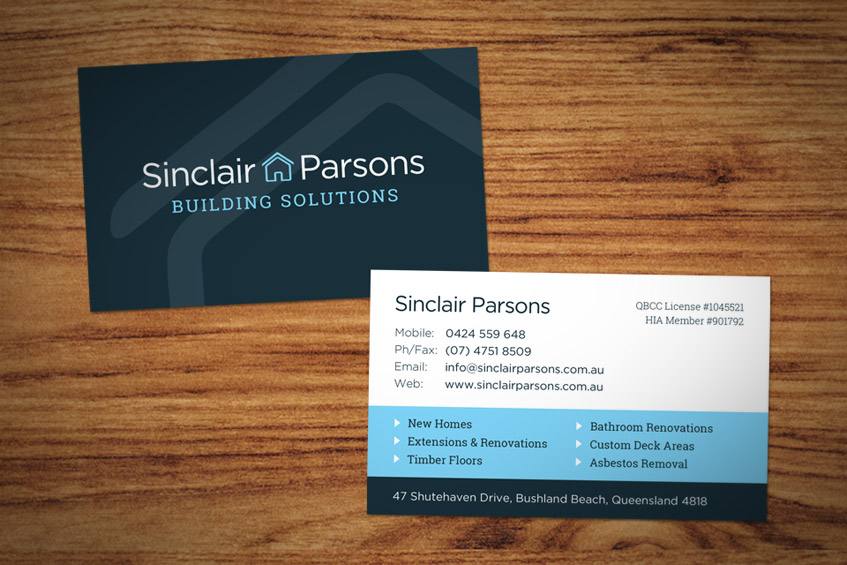 Business Card Design - Sinclair Parsons