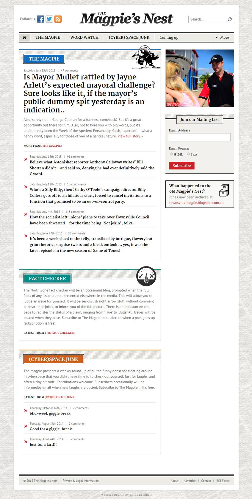 Townsville Magpie Web Design